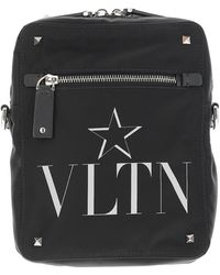 Valentino Black Nylon Signature and Star Crossbody Bag - Schwarz