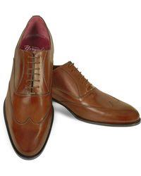 Fratelli Borgioli - Handmade Brown Italian Leather Wingtip Oxford Shoes - Lyst