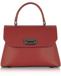 Le Parmentier | Lutece Small Red Leather Top Handle Satchel Bag | Lyst