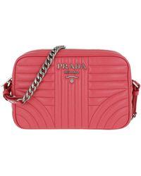 1ff507fb6b427f Prada Diagramme Camera Bag Leather Granato 3 in Red - Lyst