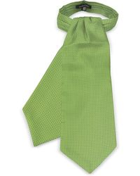 FORZIERI Ascot in Seta con Micro Pois - Verde