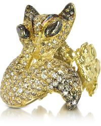 Bernard Delettrez - Two Fingers Bronze Ring W/2 Laps Snake - Lyst