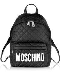 Moschino Rucksack aus schwarzem Nylon