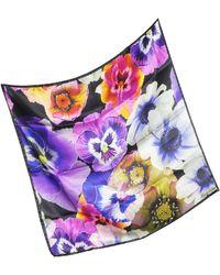 Marina D'este - Flowers Print Silk Bandana - Lyst