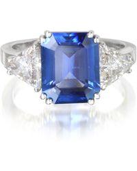 FORZIERI Ring aus Weißgold mit Saphir und Diamanten - Schwarz