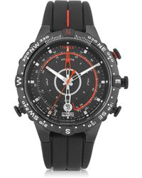 Timex - Tide-temp Compass Black Stainless Steel Case And Silicone Strap Men's Watch - Lyst