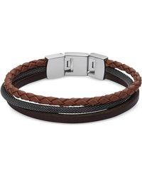 Fossil - Jf02213040 Vintage Casual Men's Bracelet - Lyst