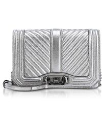 Rebecca Minkoff - Laminated Chevron Quilted Small Love Crossbody - Lyst