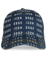 DSquared² Cappello da baseball Icon con stampa - Blu