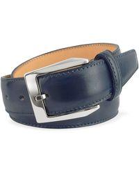 Pakerson - Men's Blue Hand Painted Italian Leather Belt - Lyst