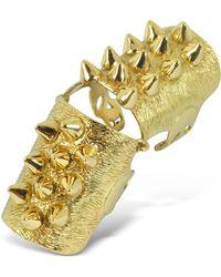 Bernard Delettrez - Golden Studs Articulated Bronze Ring - Lyst