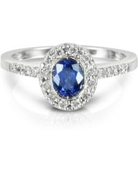 FORZIERI Sapphire And Diamond 18k White Gold Ring - Blue