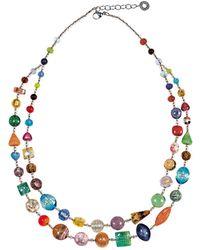 Antica Murrina - Multicolor Metal Necklace - Lyst