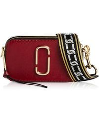 Marc Jacobs The Snapshot Small Saffiano Leather Camera Bag - Red