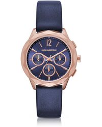 Karl Lagerfeld - Optik Pvd Rose Goldtone Stainless Women's Chronograph Watch - Lyst