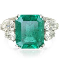 FORZIERI Emerald And Diamond White Gold Ring - Green