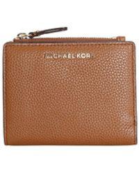 Michael Kors Luggage Leather Zip Wallet - Brown