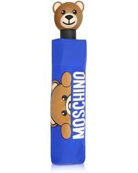 Moschino - Hidden Teddy Bear Blue Umbrella - Lyst