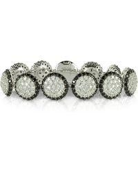 Azhar Two Tone Cubic Zirconia & Sterling Silver Bracelet - Metallic