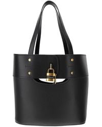 Chloé Aby Leather Tote Bag - Black