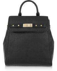 Michael Kors - Black Pebbled Leather Addison Backpack - Lyst