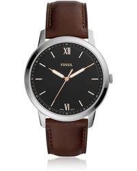Fossil FS5464 Minimalist Men's Watch - Metálico