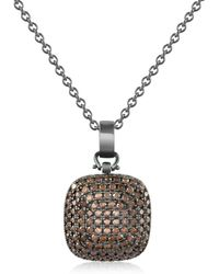 Azhar - Cubic Zirconia And Sterling Silver Square Pendant Necklace - Lyst