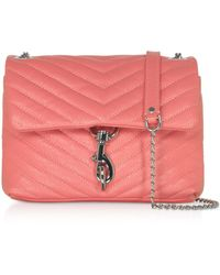 Rebecca Minkoff Quilted Leather Edie Xbody Bag - Pink