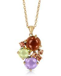 Mia & Beverly Gemstones 18k Rose Gold Pendant Necklace - Multicolour