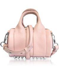 Alexander Wang - Light Pink Soft Pebble Leather Baby Rockie Satchel Bag - Lyst