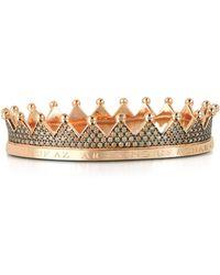 Azhar - Regno Silver And Zircon Crown Bracelet - Lyst