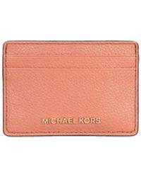 Michael Kors Michael Jet Set Leather Card Holder - Pink