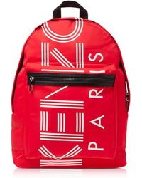 KENZO - Red Nylon Large Sport Backpack - Lyst