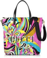 Emilio Pucci - Signature Printed Canvas Tote Bag - Lyst