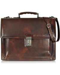 L.A.P.A. Brown Leather Briefcase