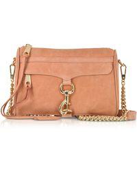 Rebecca Minkoff - Dusty Peach Leather Mini M.a.c. Crossbody Bag - Lyst