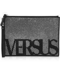 Versus - Logo Studded Clutch - Lyst