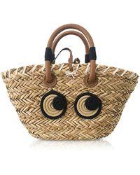 Anya Hindmarch Small Rope Eyes Basket Bag - Natural
