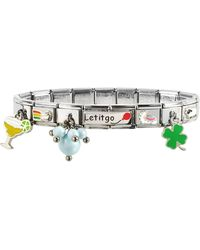 Nomination - Let It Go Sterling Silver & Stainless Steel Bracelet - Lyst