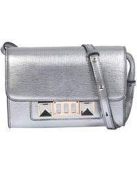 Proenza Schouler Ps11 Wallet With Crossbody Strap - Metallic