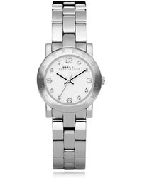 Marc By Marc Jacobs Mini Amy 26 Mm Silver Tone Stainless Steel Women's Watch - Metallic