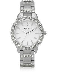 Fossil - Jesse Silver Tone Women's Watch - Lyst