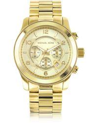 Michael Kors Reloj para Hombres Runway de Acero Inoxidable Dorado - Metálico
