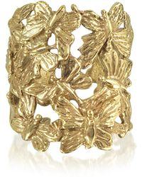 Bernard Delettrez Butterflies Flat Ring aus Bronze - Mettallic