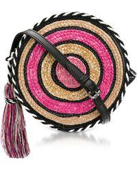 Rebecca Minkoff - Pink Multi Straw Circle Crossbody - Lyst