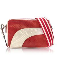 RED Valentino - Strawberry/milk White Perforated Leather Crossbody Bag W/studs - Lyst