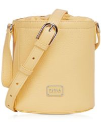 Furla Set Mini Drawstring Leather Shoulder bag - Neutro