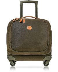 Bric's Life Trolley Carry-On in Micro-suede Verde Oliva