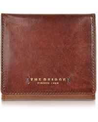 The Bridge - Dark Brown Leather Wallet W/coin Pocket - Lyst