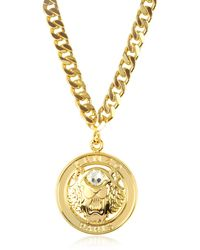 KENZO - Gilt Tiger Cyclop Necklace - Lyst